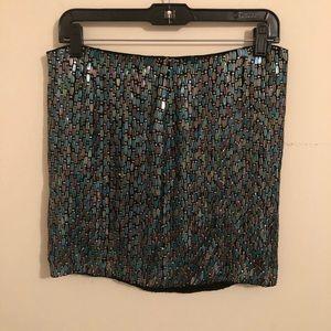 NWT Sequin Mermaid Shimmer Mini Skirt
